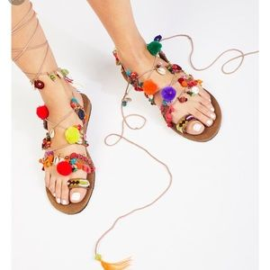 Free people Fools Gold Wrap Sandal (NEW)